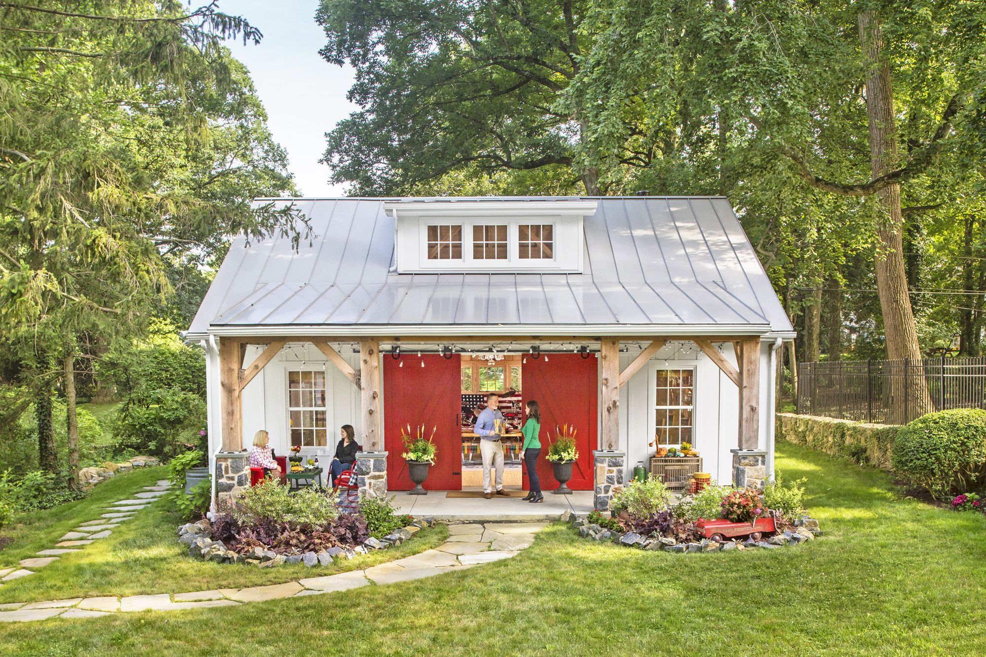 Take A Peek Inside This Party Barn Designed For Hosting Epic Backyard Bashes