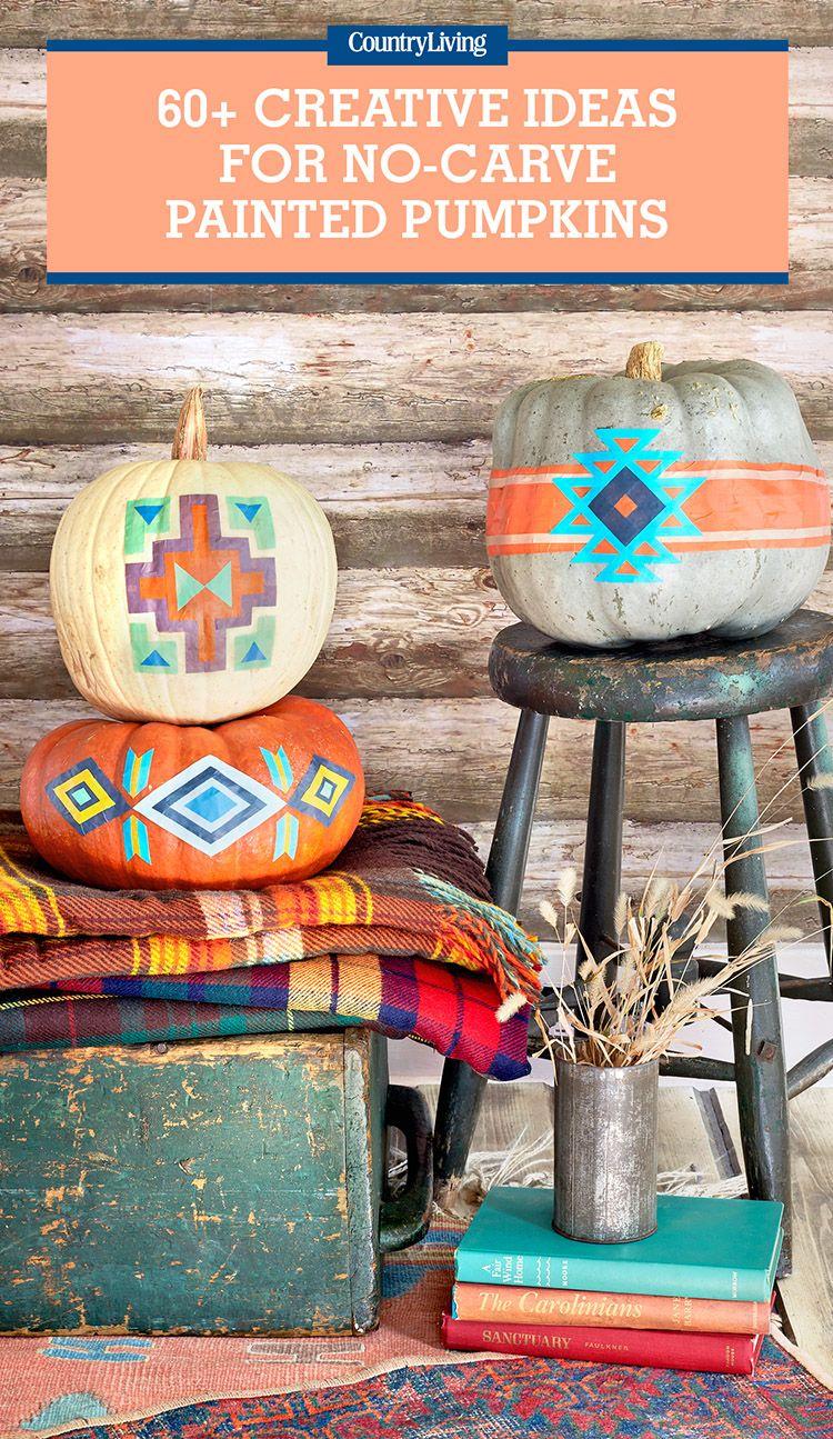 57 Easy Painted Pumpkins Ideas No