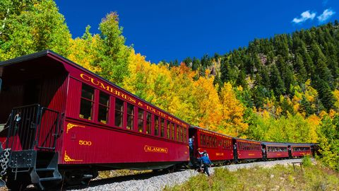 cumbres and toltec scenic railroad - fall foliage train rides colorado new mexico