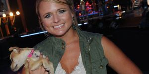 Miranda Lambert and a dog