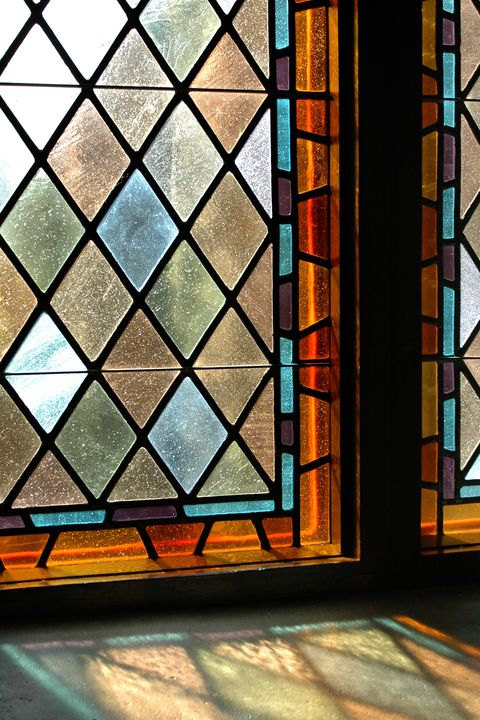 Stained glass, Glass, Window, Architecture, Tints and shades, Daylighting, Interior design, Window film, Pattern,