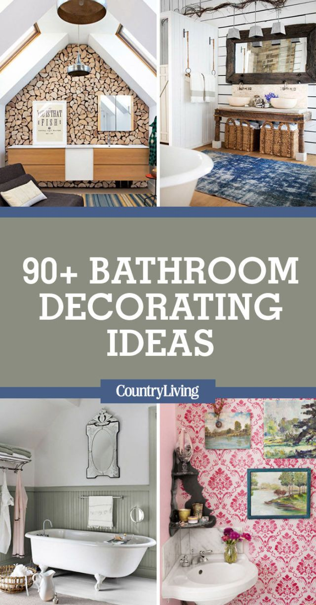 Pin this image! Save these bathroom decorating ideas ...  sc 1 st  Country Living Magazine & 90 Best Bathroom Decorating Ideas - Decor u0026 Design Inspirations for ...
