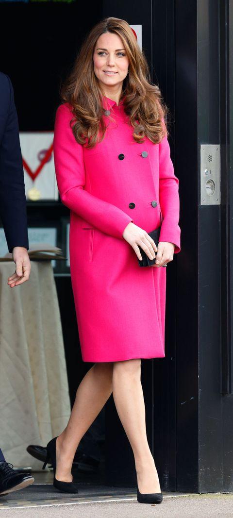 Clothing, Pink, Coat, Magenta, Outerwear, Fashion, Dress, Formal wear, Street fashion, Overcoat,