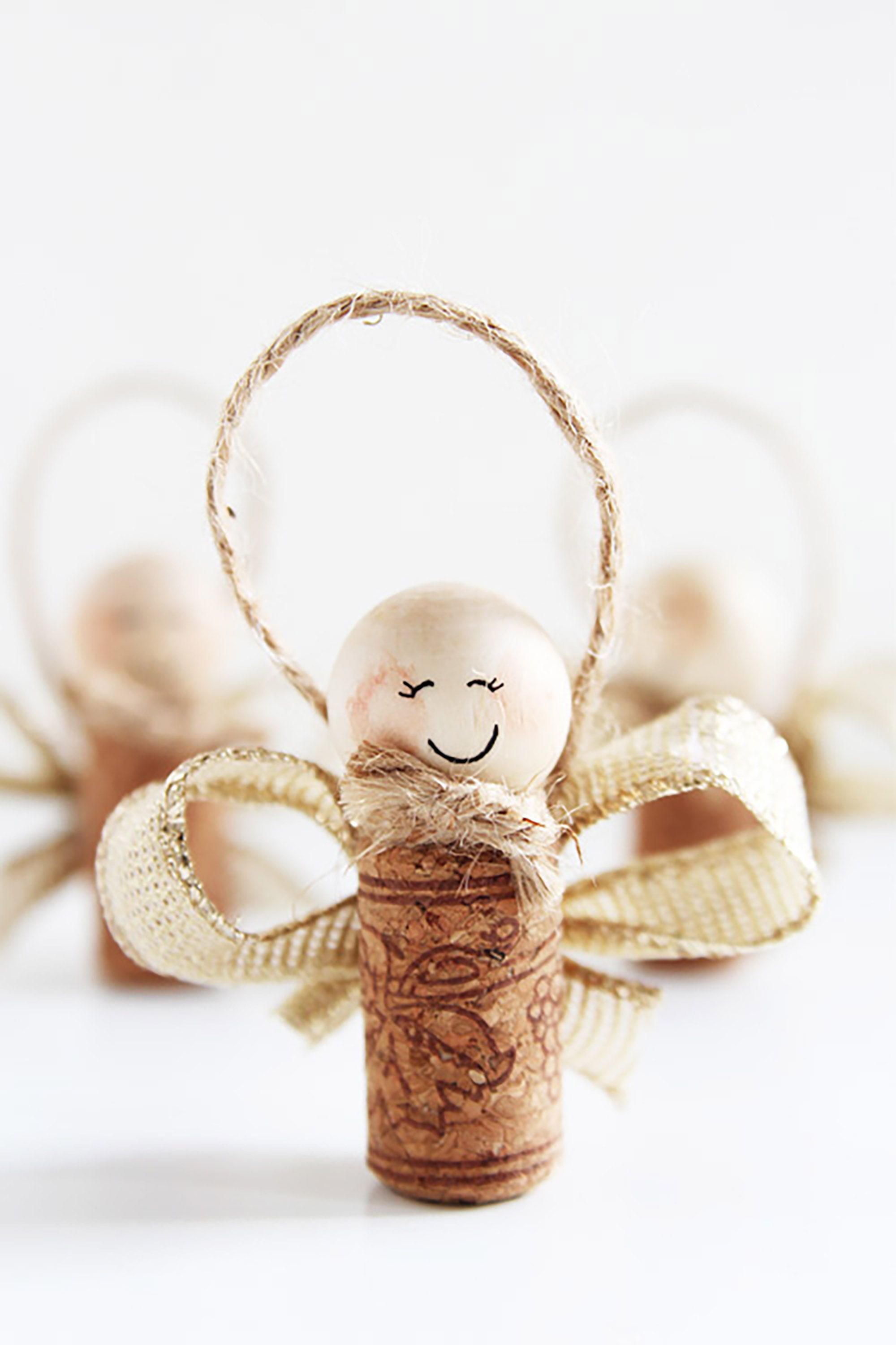 wine cork angels christmas craft