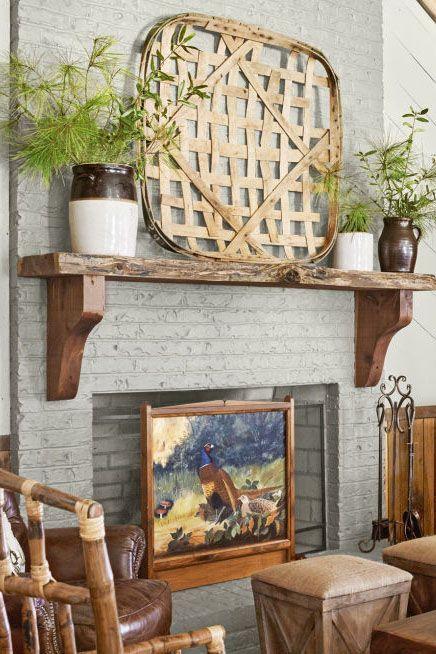 40 fireplace design ideas fireplace mantel decorating ideas rh countryliving com Country Fireplace Mantel Shelf Custom Fireplace Mantels