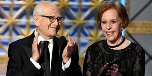 Norman Lear and Carol Burnett at 2017 Emmys
