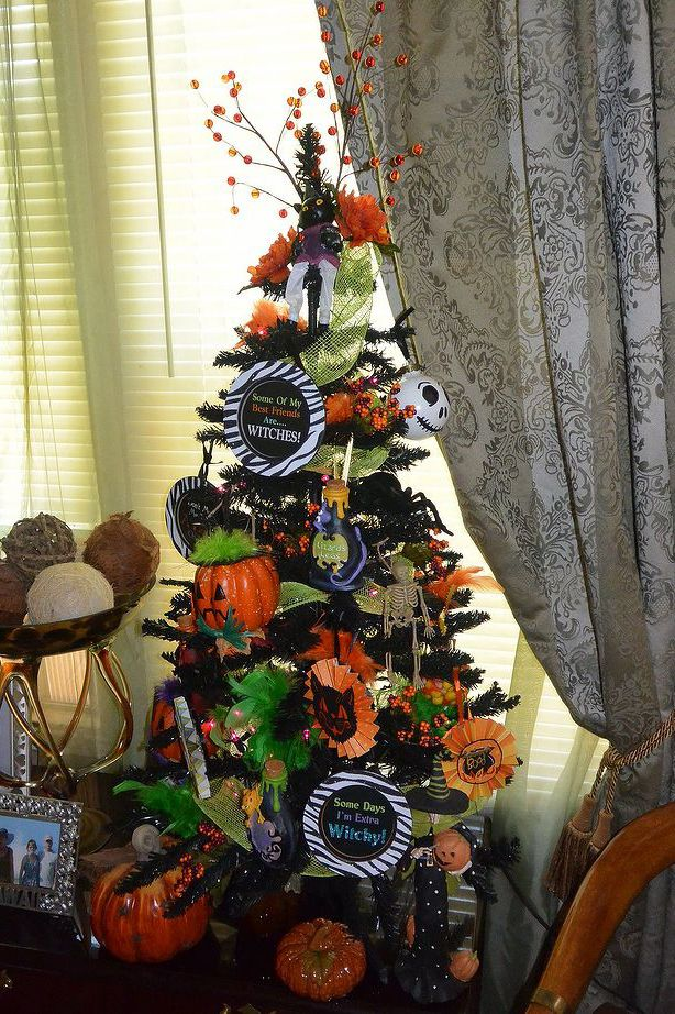 15 halloween tree diy decorations how to make a halloween tree and ornaments - Halloween Christmas Decorations