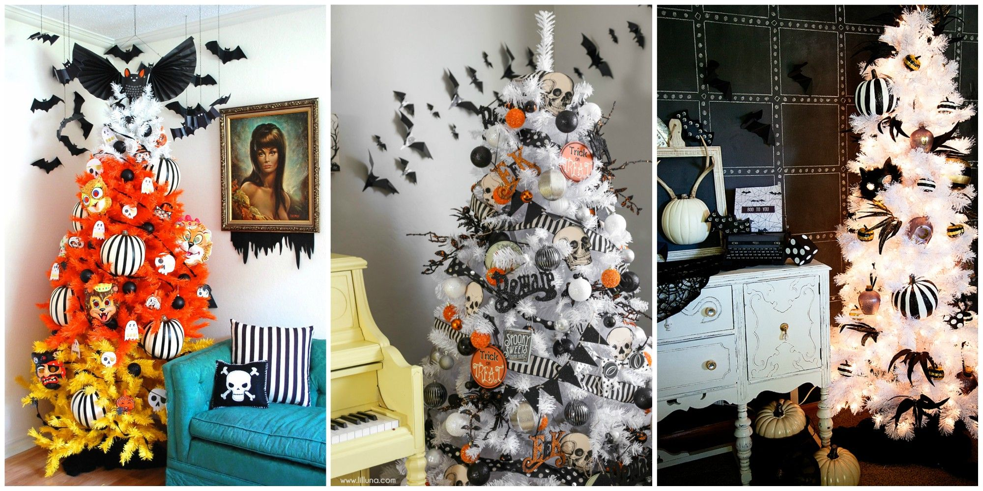 Halloween Christmas Tree.15 Halloween Tree Diy Decorations How To Make A Halloween