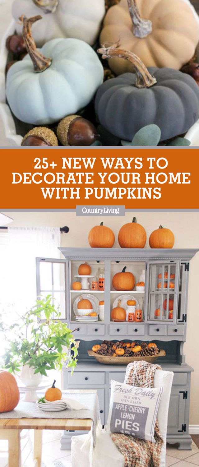 25 Ways to Decorate Your Home With Pumpkins , Pumpkin Crafts