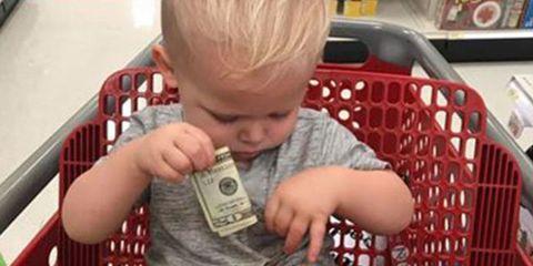 Child, Toddler, Play, Baby, Reading, Shopping cart,