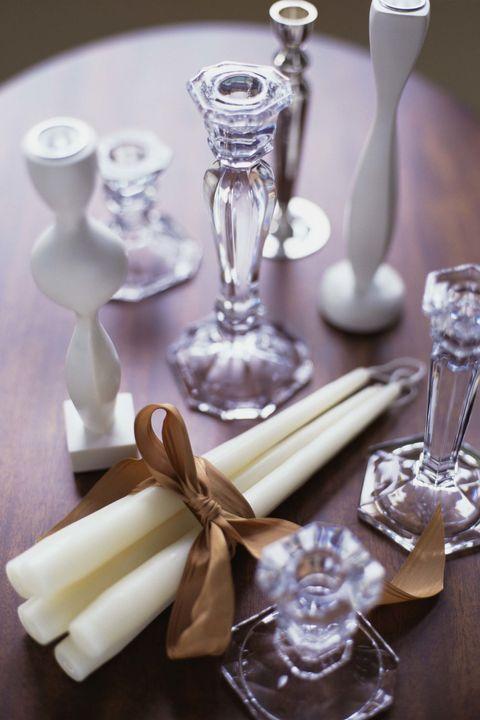 crystal candlesticks