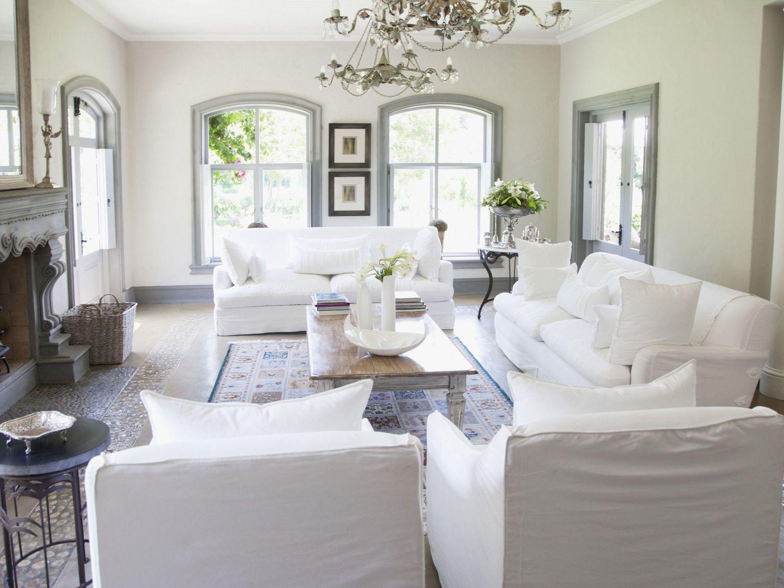 Charmant White Sofa Living Room