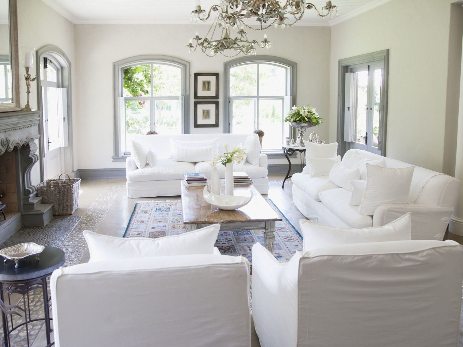 Captivating White Sofa Living Room
