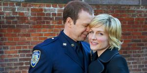 Donnie Wahlberg and Amy Carlson in Blue Bloods