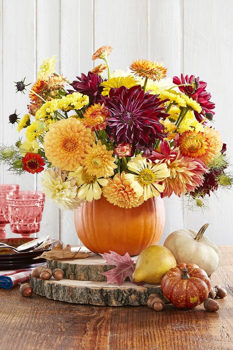 thanksgiving centerpiece pumpkin vase