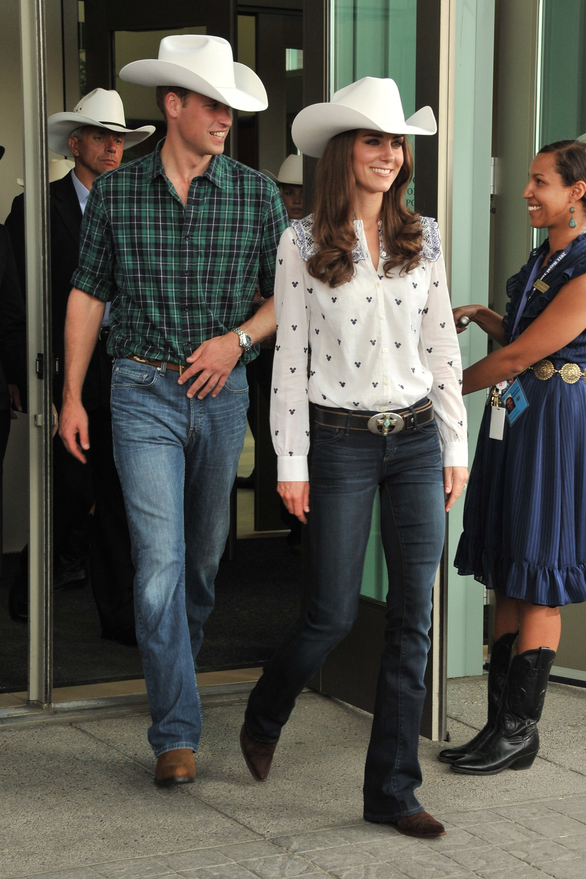 CALGARY, AB - JULY 07:  Prince William, Duke of Cambridge and Catherine, Duchess of Cambridge watch traditional Calgary Stampede activities at the BMO Centre on July 7, 2011 in Calgary, Canada.  (Photo by George Pimentel/WireImage)