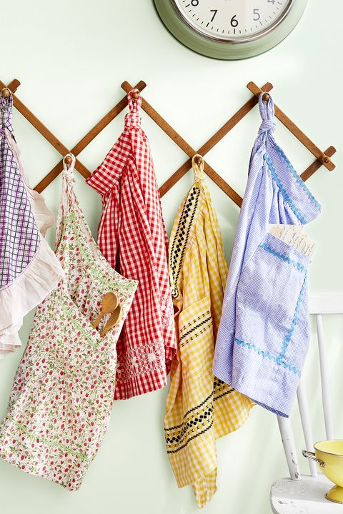 Clothes hanger, Yellow, Room, Textile, Design, Laundry, Linens, Pattern, Pattern, Towel,