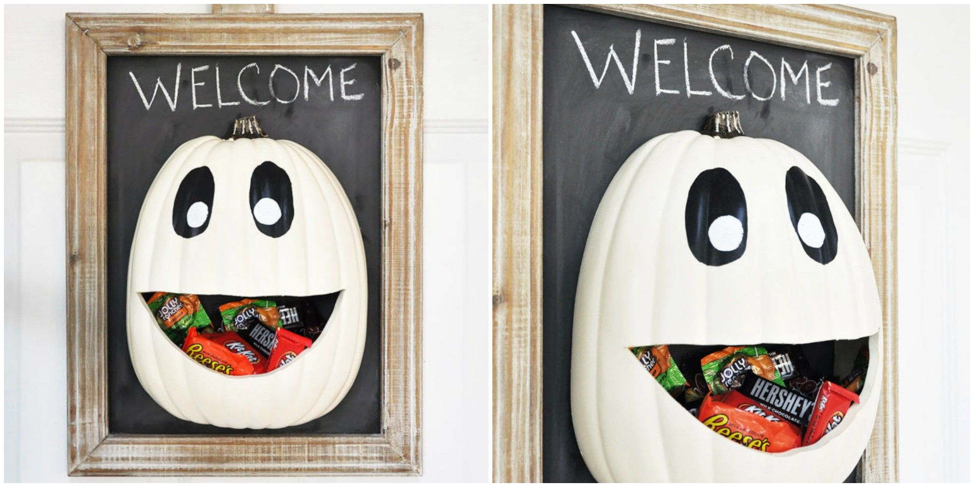 how to make a halloween candy door hanger - diy halloween candy holder