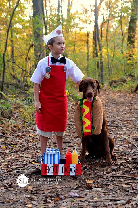 kids halloween costume with dog