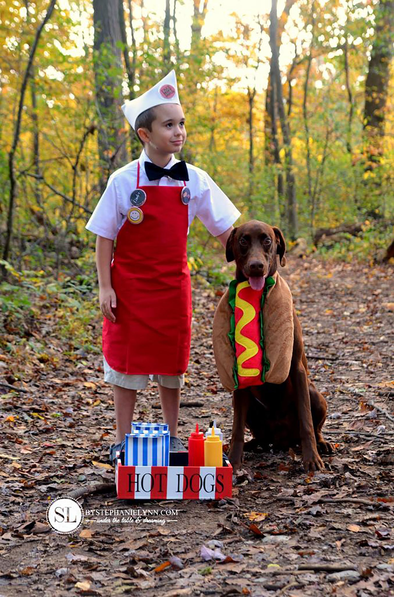 kids halloween costume with dog  sc 1 st  Country Living Magazine & 18 Adorable Costumes You Can Wear With Your Dog - Pet Couple Costume ...