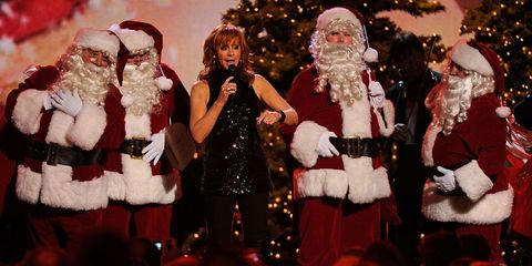 Santa claus, Christmas, Christmas eve, Christmas tree, Event, Fictional character, Human body, Fun, Fur, Tree,
