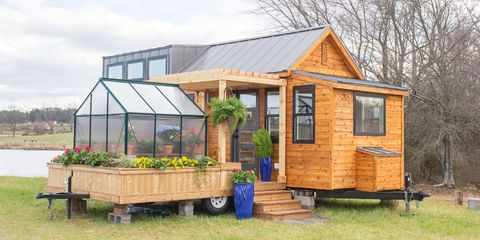 This Tiny Home Has A Greenhouse And A Porch Swing The Elsa From