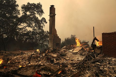 Photos from the Oct. 9 wildfires in Northern California.