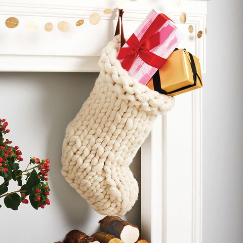 Christmas stocking, Christmas decoration, Crochet, Wool, Fawn, Interior design,