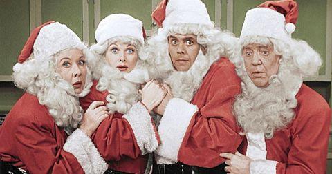 Santa claus, Christmas, Christmas eve, Fictional character, Grandparent, Elder, Event, Smile,