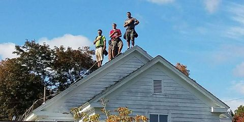 Roof, Sky, Architecture, Statue, Building, Roofer, House, Siding,