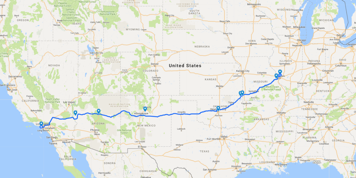 Map Of Arizona Destinations.The Best Haunted Road Trip Across Route 66 Route 66 Haunted