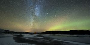 aurora borealis and orionids