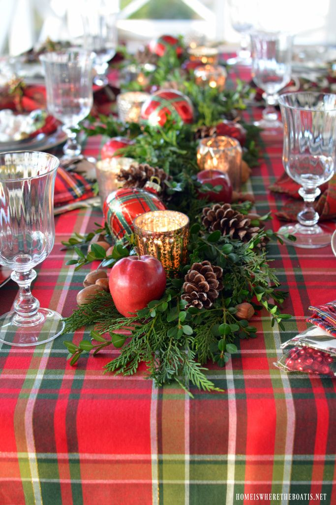 Great Plaid Christmas Table Setting Good Ideas