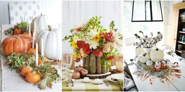 let the colors of fall transform your dining room table - Centerpiece Ideas