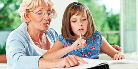 Learning, Child, Fun, Sharing, Sitting, Grandparent, Reading, Leisure, Homework, Family pictures,