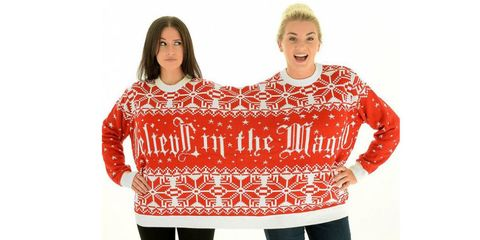 the only thing better than a tacky christmas sweater is one that you can wear with your best friend enter the twosie sweater from truffle shuffle - Best Christmas Sweaters