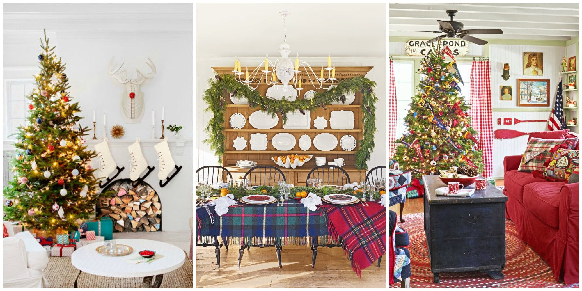 30 best christmas home tours - houses decorated for christmas