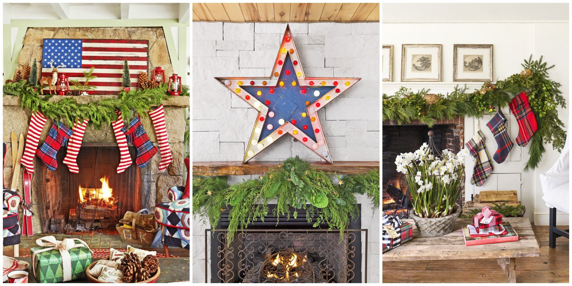 Fireplace Mantel Holiday Decorating Ideas Part - 45: 38 Christmas Mantel Decorations - Ideas For Holiday Fireplace Mantel  Decorating
