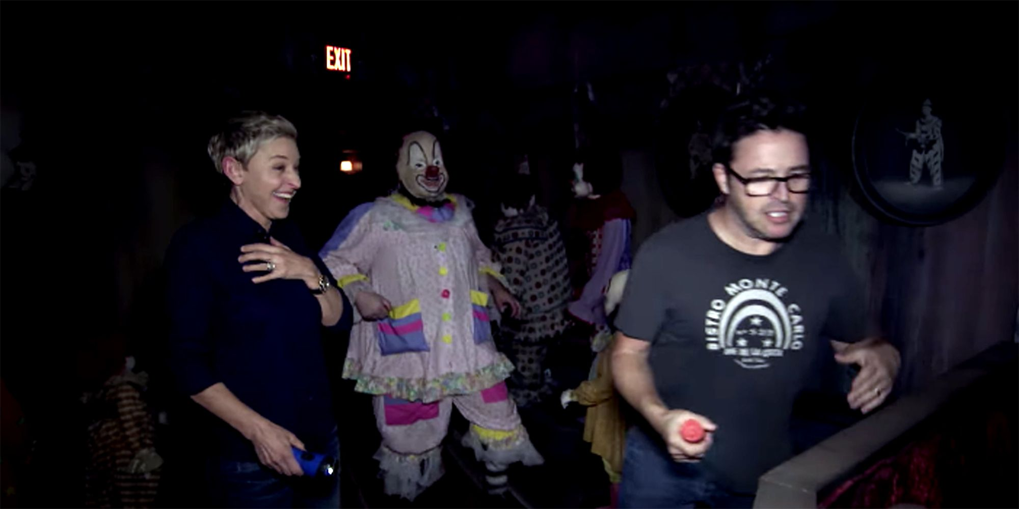 Watch Ellen And Andy Go On A Creepy Tour Of The House From The Movie