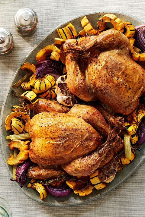 Roasted Chicken and Winter Squash recipe