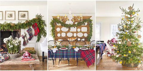 Christmas decoration, Room, Home, Christmas, Christmas tree, Interior design, Furniture, Dining room, Tree, Design,