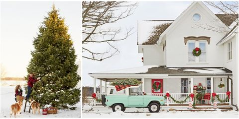 michigan farmhouse christmas decorating ideas - Farmhouse Christmas