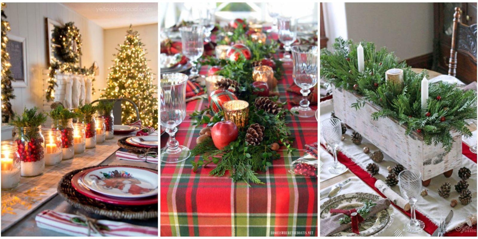 Hosting a get-together for family and friends this Christmas? Get inspired to make your holiday table sparkle with these ideas for special decorations and ... & 49 Best Christmas Table Settings - Decorations and Centerpiece ...