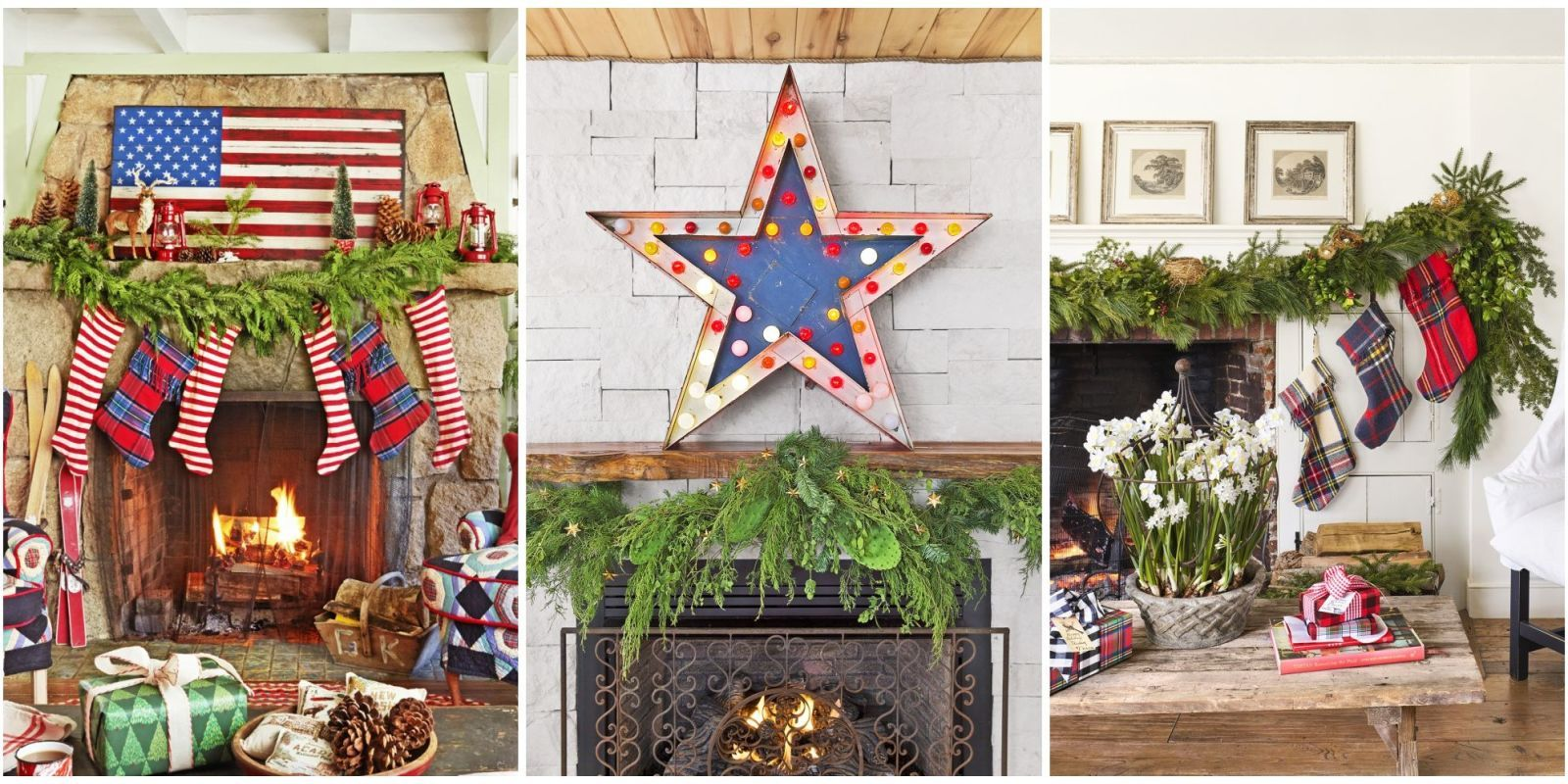 These Christmas fireplace mantels are pretty enough to make you wish you had one in every room of your home. : christmas decorating mantels ideas - www.pureclipart.com