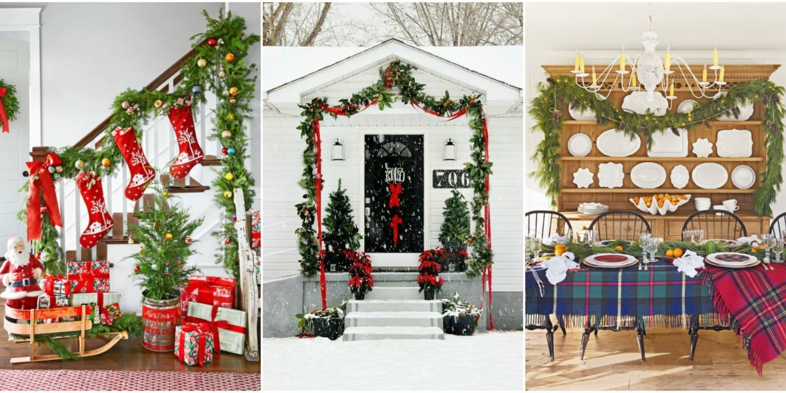 christmas garland & 60 Best Christmas Garland Ideas - Decorating with Holiday Garlands