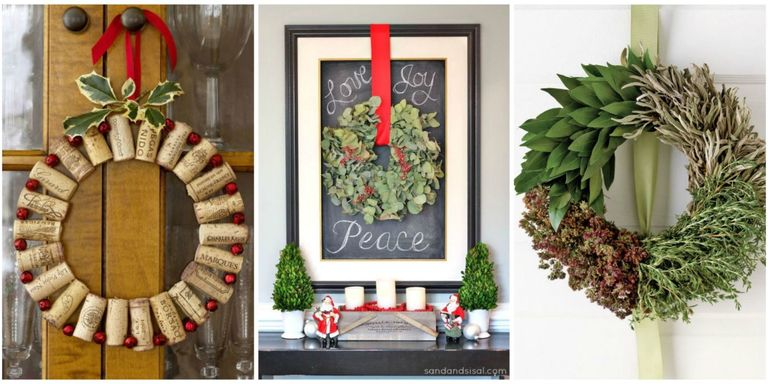 50 diy christmas wreath ideas how to make holiday wreaths crafts use these ideas to create extraordinary arrangements from ordinary materials and get more great holiday door decor ideas solutioingenieria Images