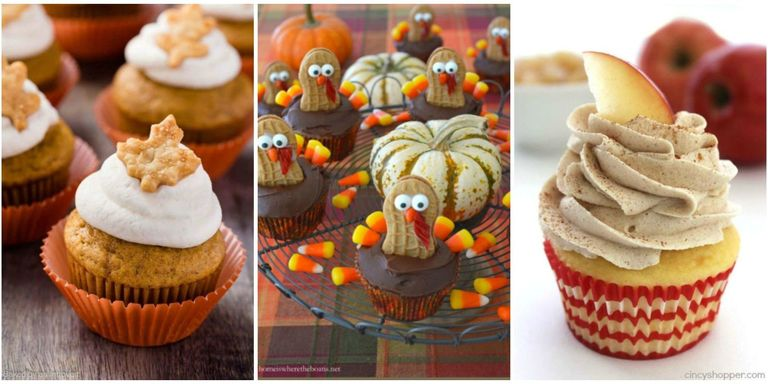 12 Easy Thanksgiving Cupcakes Cute Decorating Ideas and Recipes