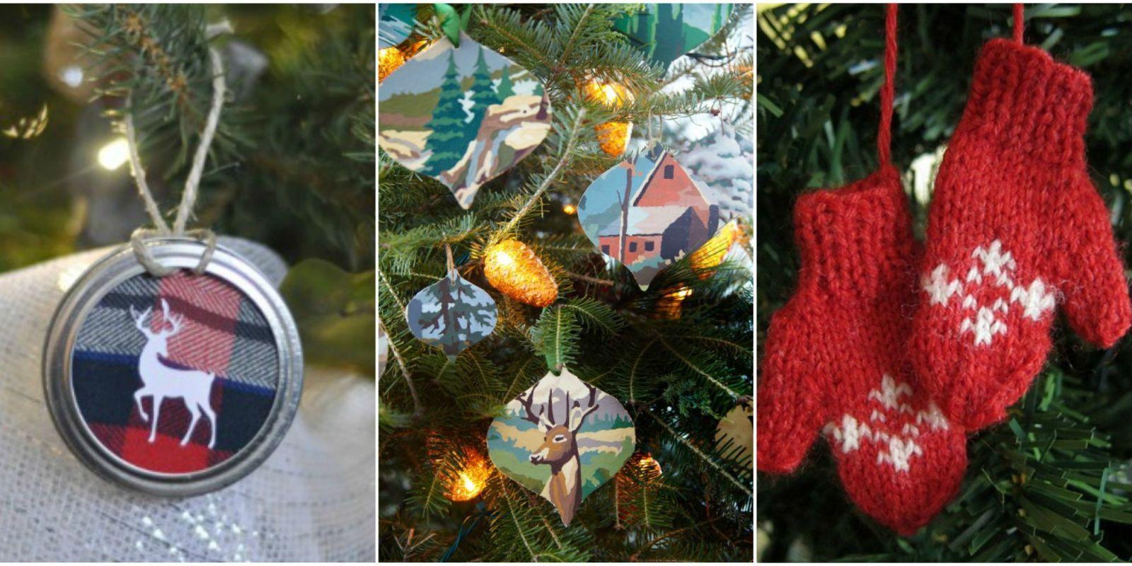 diy christmas ornaments & 55 Homemade Christmas Ornaments - DIY Crafts with Christmas Tree ...