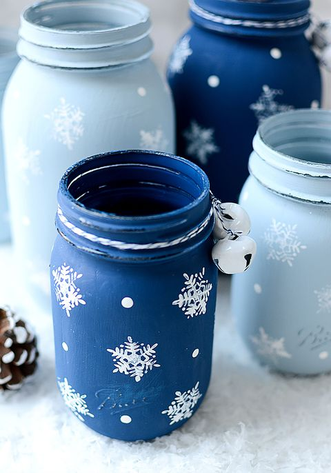 winter wonderland mason jar christmas craft