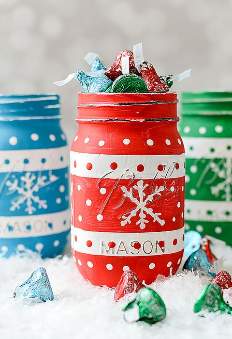 christmas sweater candy mason jar craft
